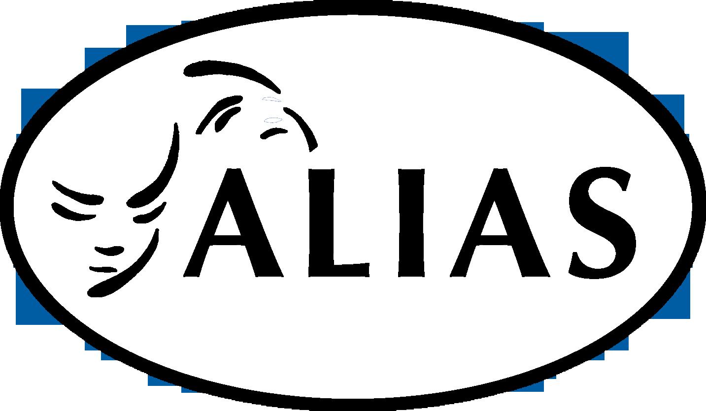 alias logo noir